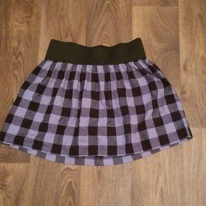 Xhilaration Skater Skirt Checkerboard